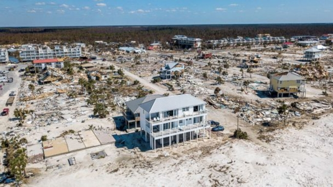 Mexico Beach Florida Home Still Stands Virtually Untouched Amid Mive Destruction From Michael Abc7news