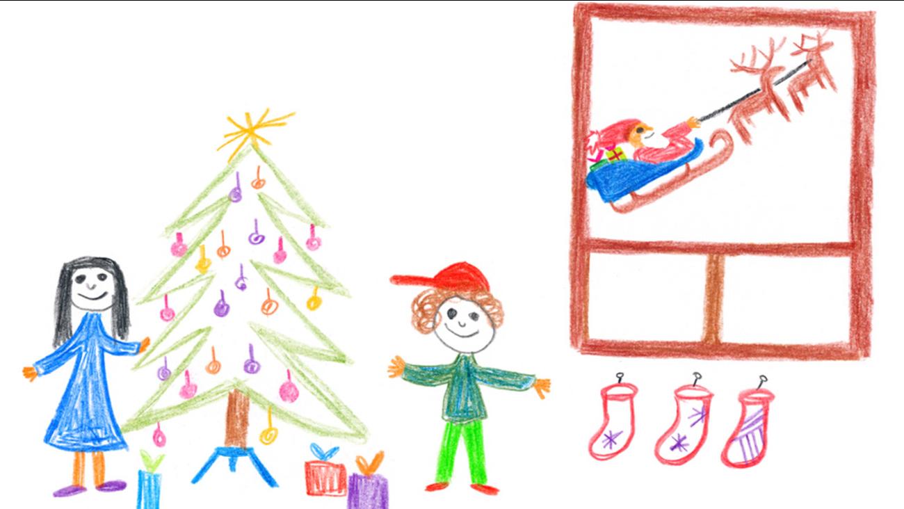 Kids Holiday Drawings Come To Life Abc7 Com