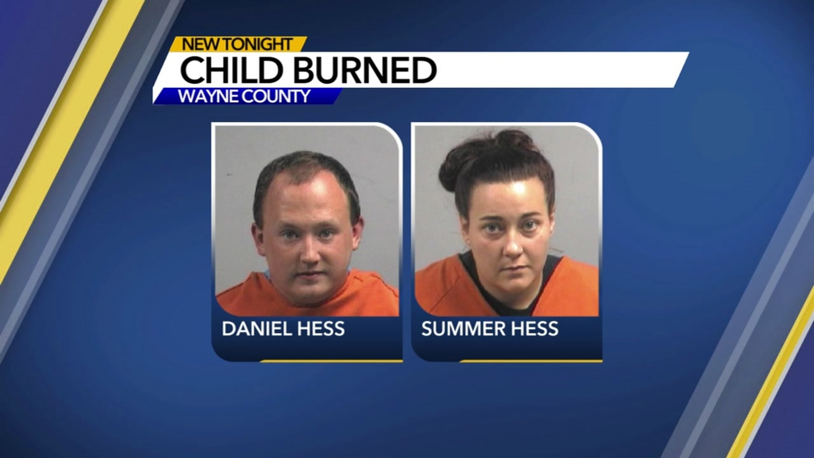 Two charged after child found with burns