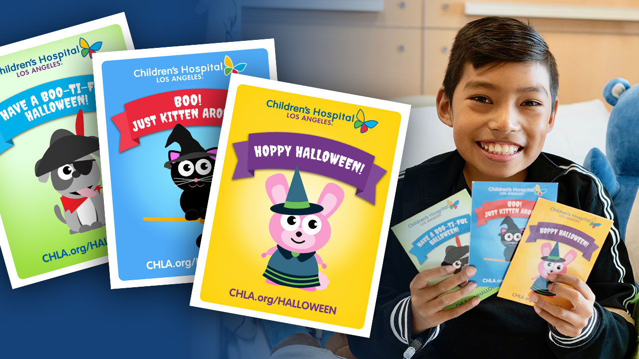 Send A Halloween Card To Sick A Child At Childrens Hospital Los