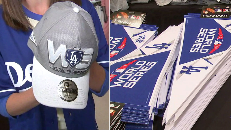 La Dodgers Gear World Series Merchandise Flying Off Shelves At Dick S Sporting Goods Abc7 Los Angeles