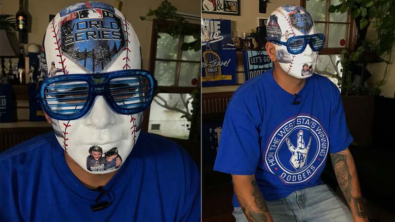 561999fb09c00d Dodger 'Baseball Head' pulls out all the stops for World Series ...