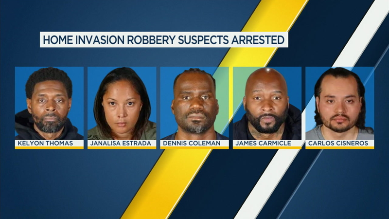 6 alleged gang members charged in home invasion robberies