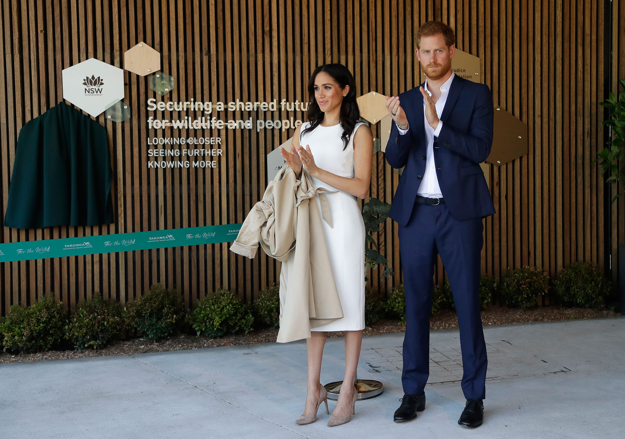 "<div class=""meta image-caption""><div class=""origin-logo origin-image none""><span>none</span></div><span class=""caption-text"">Prince Harry and Meghan, Duchess of Sussex react during a ceremony at Taronga Zoo in Sydney, Australia, Tuesday, Oct. 16, 2018. (Kirsty Wigglesworth, Pool/AP Photo)</span></div>"