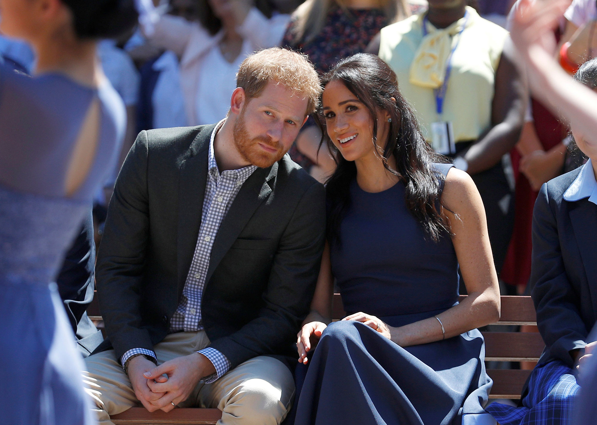 "<div class=""meta image-caption""><div class=""origin-logo origin-image none""><span>none</span></div><span class=""caption-text"">Prince Harry and Meghan, Duchess of Sussex watch a performance during their visit to Macarthur Girls High School in Sydney, Australia on Oct. 19. (Phil Noble/Pool Photo via AP)</span></div>"