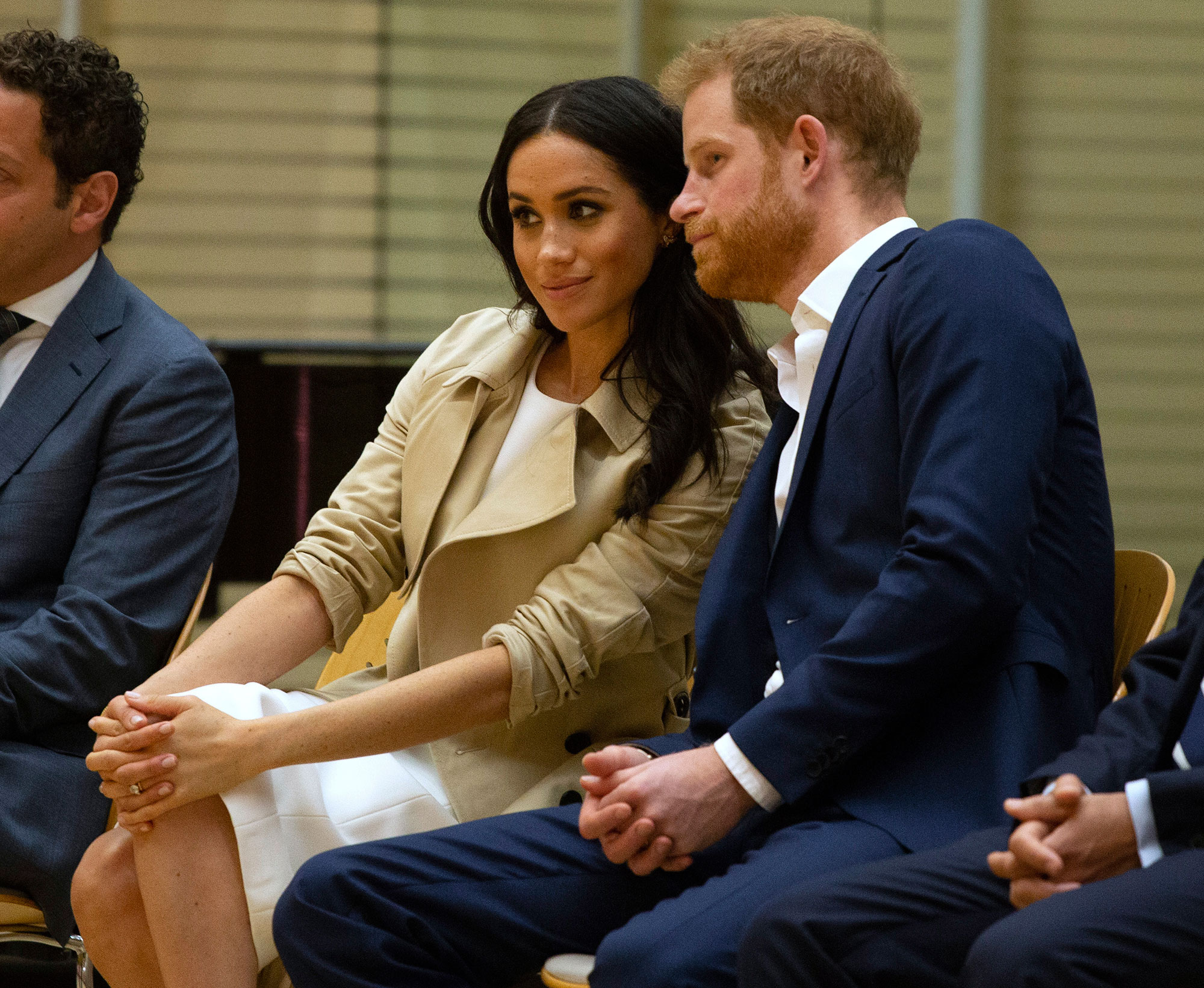"<div class=""meta image-caption""><div class=""origin-logo origin-image none""><span>none</span></div><span class=""caption-text"">Prince Harry and Meghan, Duchess of Sussex watch the Bangarra Dance Company inside the Sydney Opera House in Sydney, Australia, Tuesday, Oct. 16, 2018. (Ian Vogler/Pool Photo via AP)</span></div>"