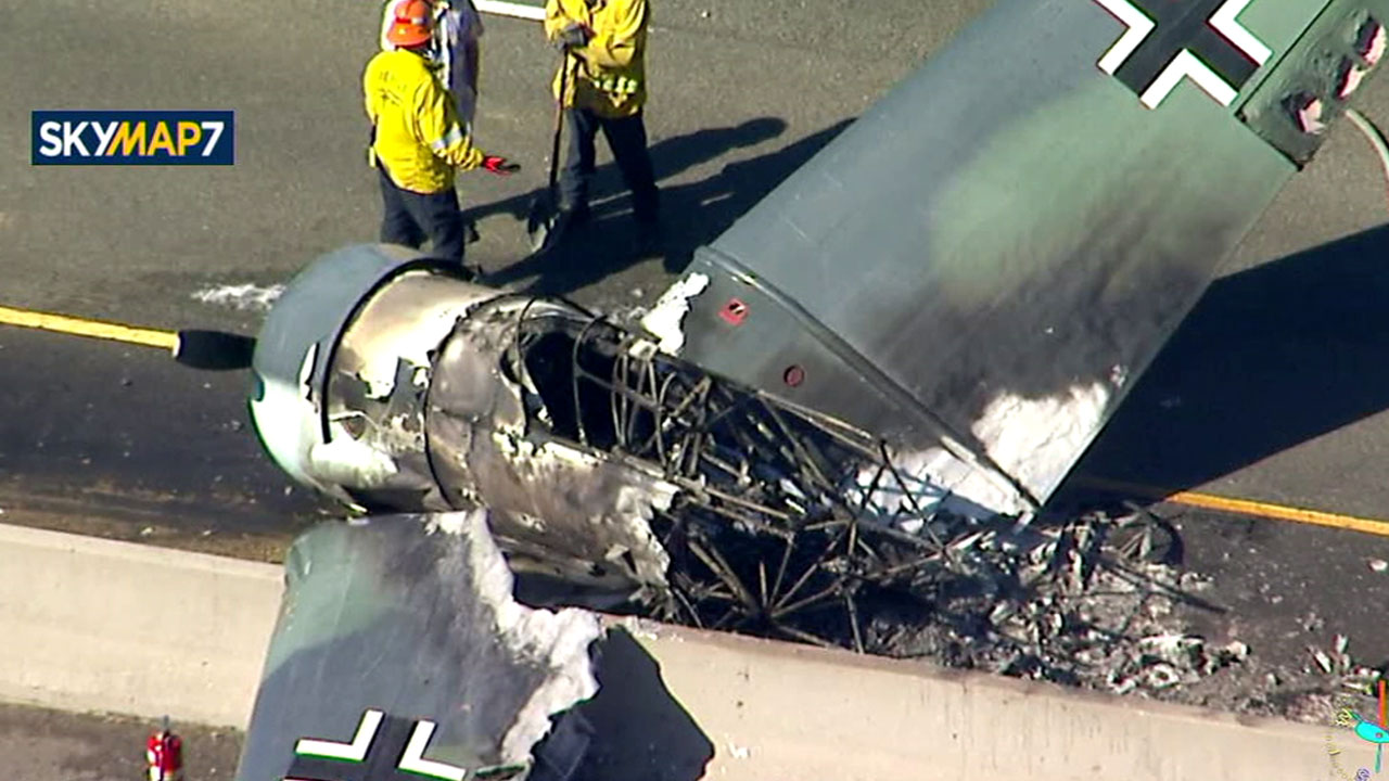 <div class='meta'><div class='origin-logo' data-origin='KABC'></div><span class='caption-text' data-credit=''>A small plane crashed on the westbound 101 in Agoura Hills on Tuesday, Oct. 23, 2018.</span></div>