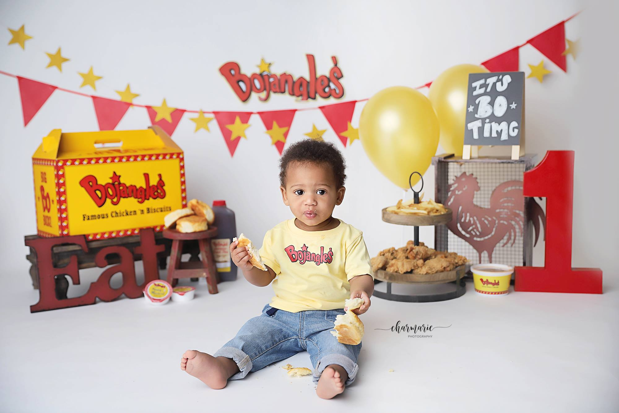 Wendell 1 Year Old Gets Bojangles Themed Photo Shoot