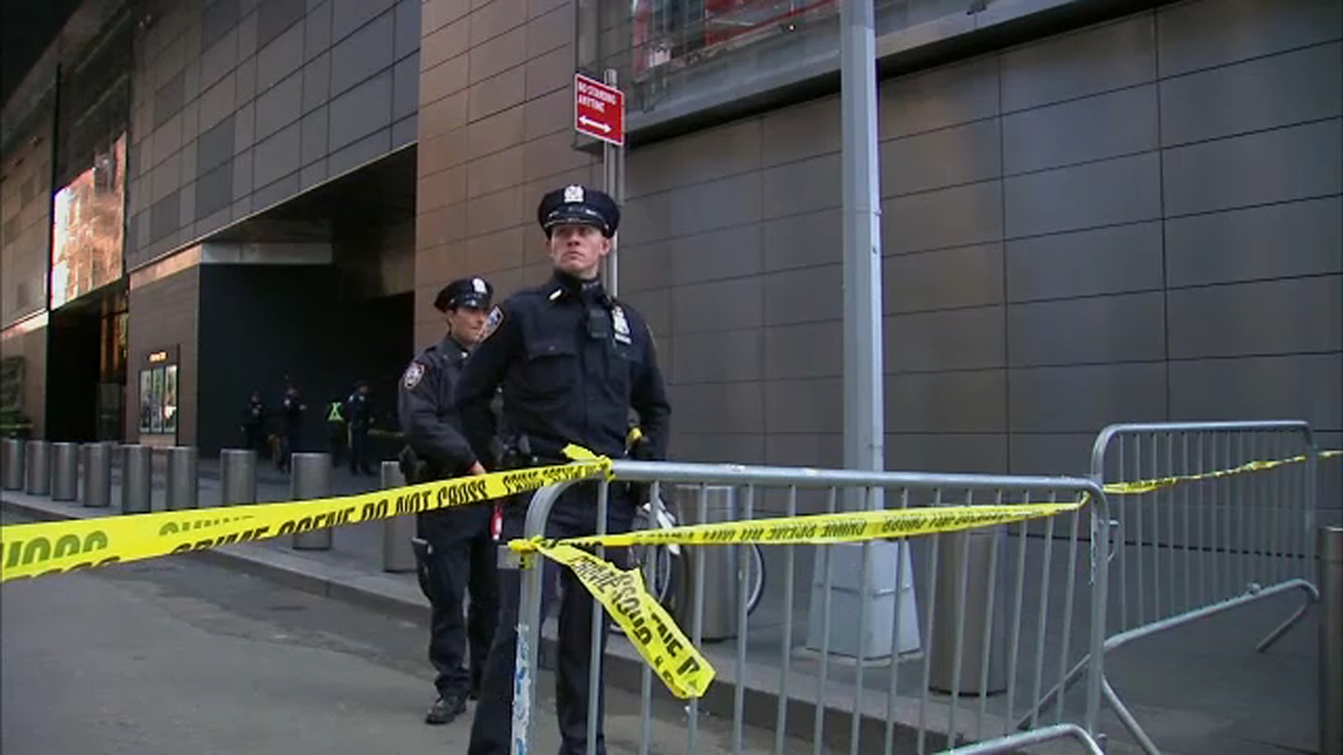 <div class='meta'><div class='origin-logo' data-origin='none'></div><span class='caption-text' data-credit=''>Authorities are shown on the scene of a suspicious package near the CNN building in New York.</span></div>