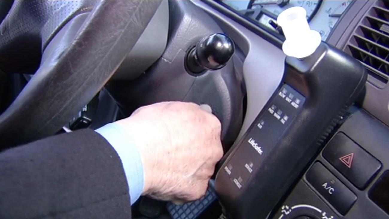 ignition interlock device in a car