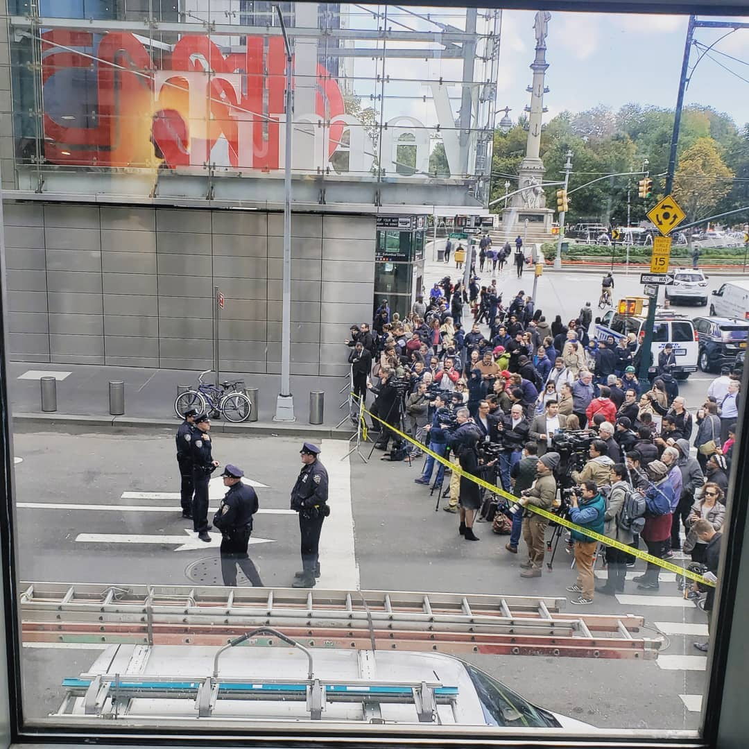 <div class='meta'><div class='origin-logo' data-origin='none'></div><span class='caption-text' data-credit='Susan Moller/ Instagram'>A social media user shared a photo from a nearby building as the Time Warner Center was evacuated on Wednesday.</span></div>