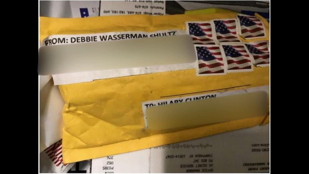 <div class='meta'><div class='origin-logo' data-origin='none'></div><span class='caption-text' data-credit=''>ABC News confirmed that this was the package sent to Hillary Clinton that contained the pipe bomb</span></div>