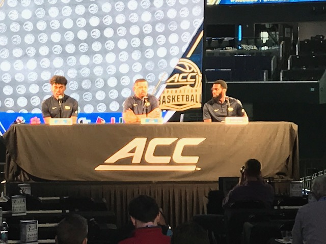 <div class='meta'><div class='origin-logo' data-origin='WTVD'></div><span class='caption-text' data-credit='Charlie Mickens'>Scenes from ACC Media Day on Wednesday.</span></div>