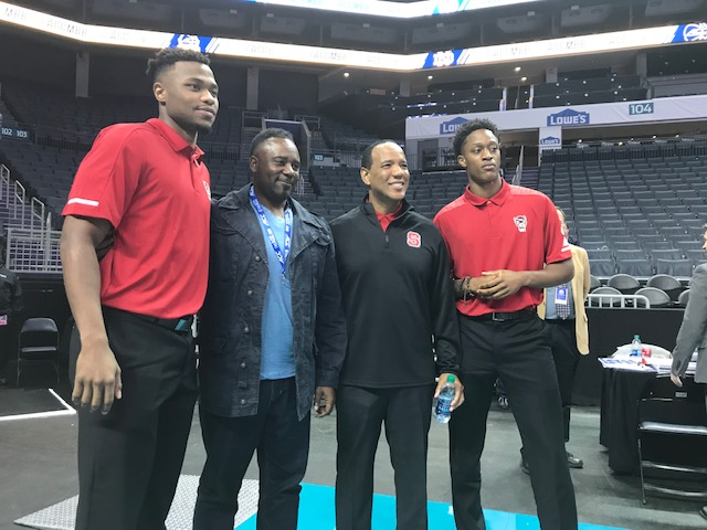 <div class='meta'><div class='origin-logo' data-origin='WTVD'></div><span class='caption-text' data-credit='Charlie Mickens'>Scenes from ACC Media Day on Wednesday. N.C. State coach Kevin Keatts.</span></div>