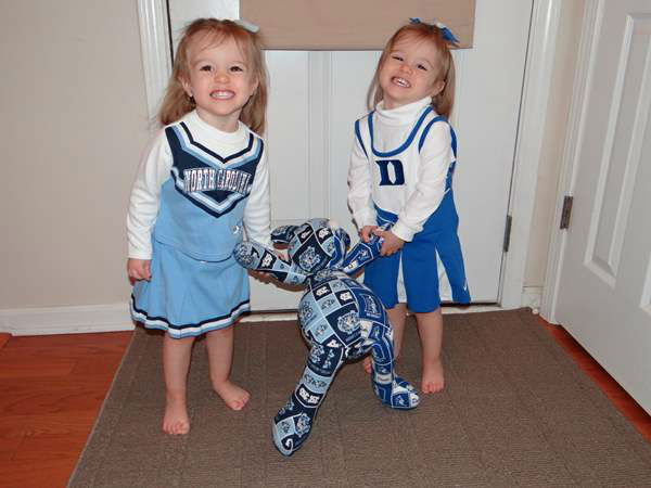 "<div class=""meta image-caption""><div class=""origin-logo origin-image ""><span></span></div><span class=""caption-text"">""Kacey is supporting mommy's team UNC Tarheels and Kameryn is supporting daddy's Duke Blue Devils."" (iWitness Photo)</span></div>"