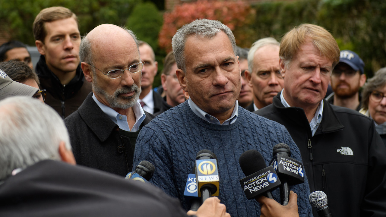 <div class='meta'><div class='origin-logo' data-origin='Creative Content'></div><span class='caption-text' data-credit='Jeff Swensen/Getty Images'>Pittsburgh Public Safety Director Wendell Hissrich describes the gravity of a mass shooting at the Tree of Life Synagogue in Pittsburgh.</span></div>