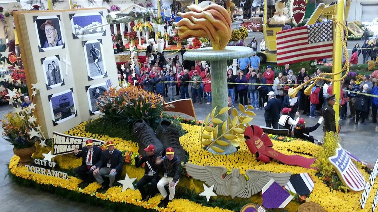 The City of Torrance won the 2015 Rose Parade Theme Award with its float honoring Louis Zamperini.