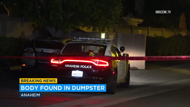 Anaheim police: Woman's body found in luggage bag in dumpster