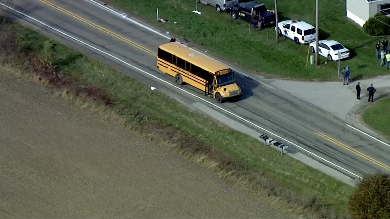 Twin boys, 6, and 9-year-old sister fatally struck at school bus