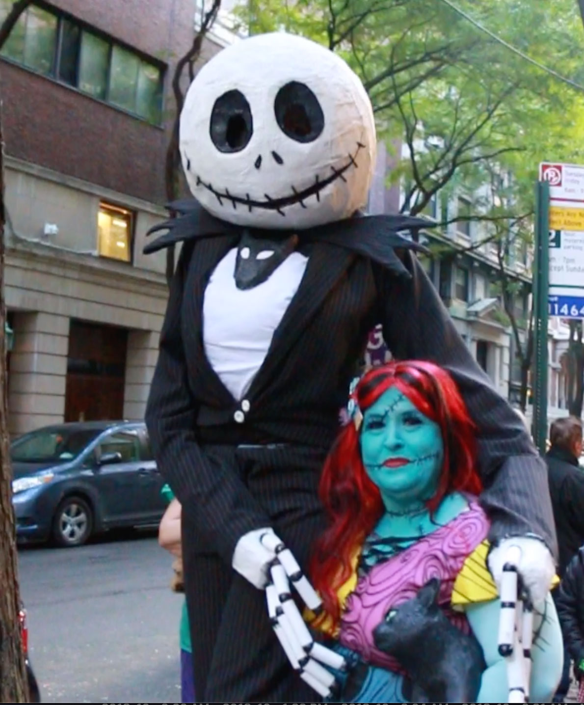 <div class='meta'><div class='origin-logo' data-origin='none'></div><span class='caption-text' data-credit=''>This pair dressed up as Sally and Jack from ''Nightmare Before Christmas.''</span></div>