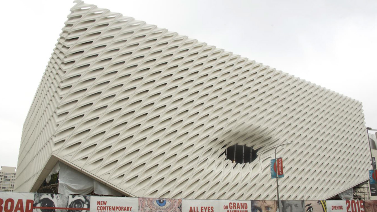 The exterior of the Broad Museum was unveiled Wednesday, Dec. 31, 2014