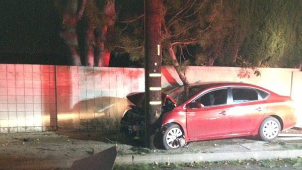 An alleged drunk driver tried to flee the scene of a crash in Tustin on Thursday, Jan. 1, 2015, leaving his injured wife and child behind.