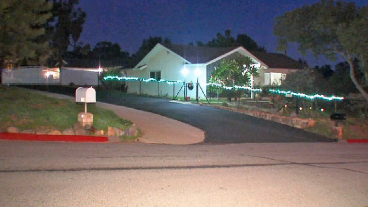 A home where two fetuses were found in Fallbrook on Friday, Jan. 2, 2015.