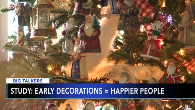 experts say decorating for christmas early can make you a happier person abc7newscom - Is November Too Early For Christmas Decorations