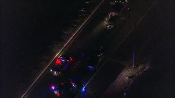 Police investigate 3-vehicle crash in Burlington Co.