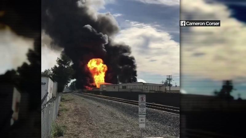 Santa Rosa Recycling Center >> Video Captures Fire At Santa Rosa Recycling Facility