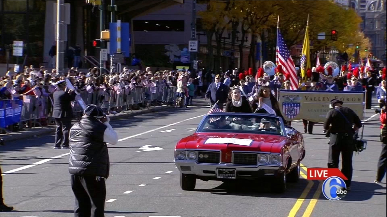 Veterans Parade Makes Its Way Through Center City