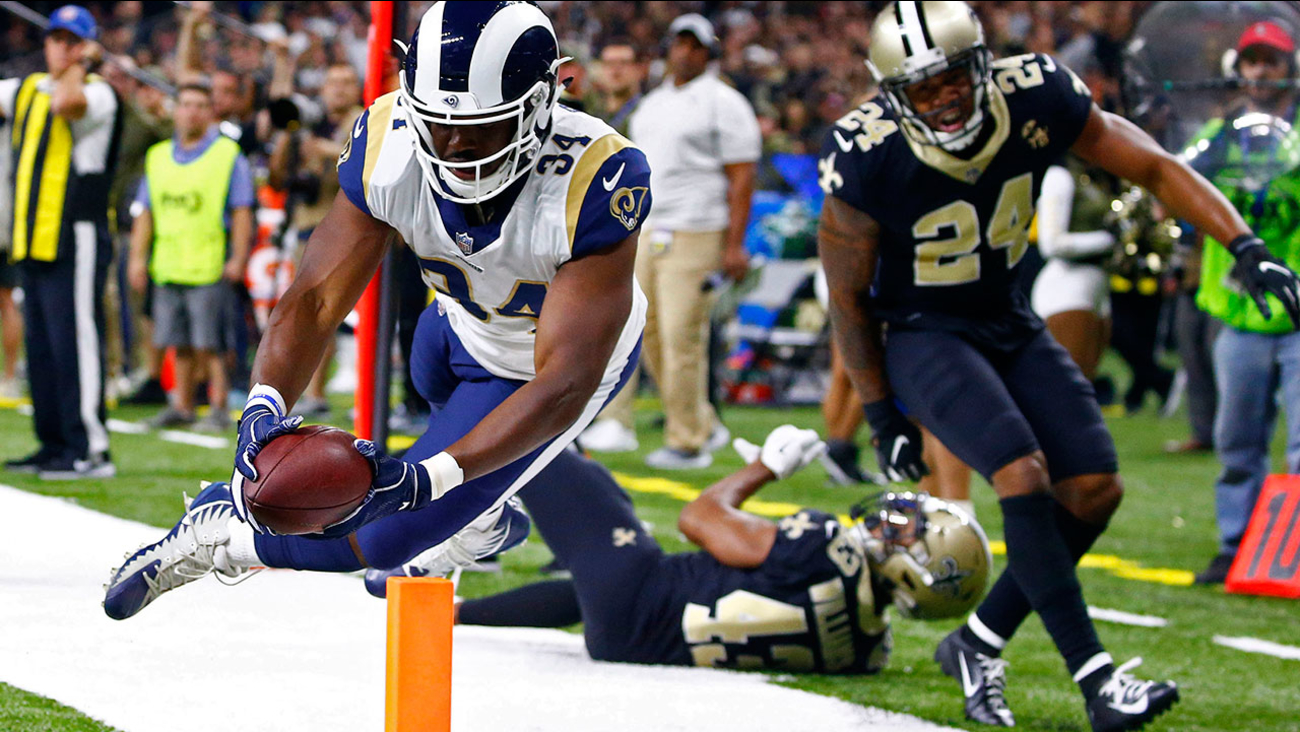 b5bbf1424 Rams  unbeaten streak ends in 45-35 loss to Saints