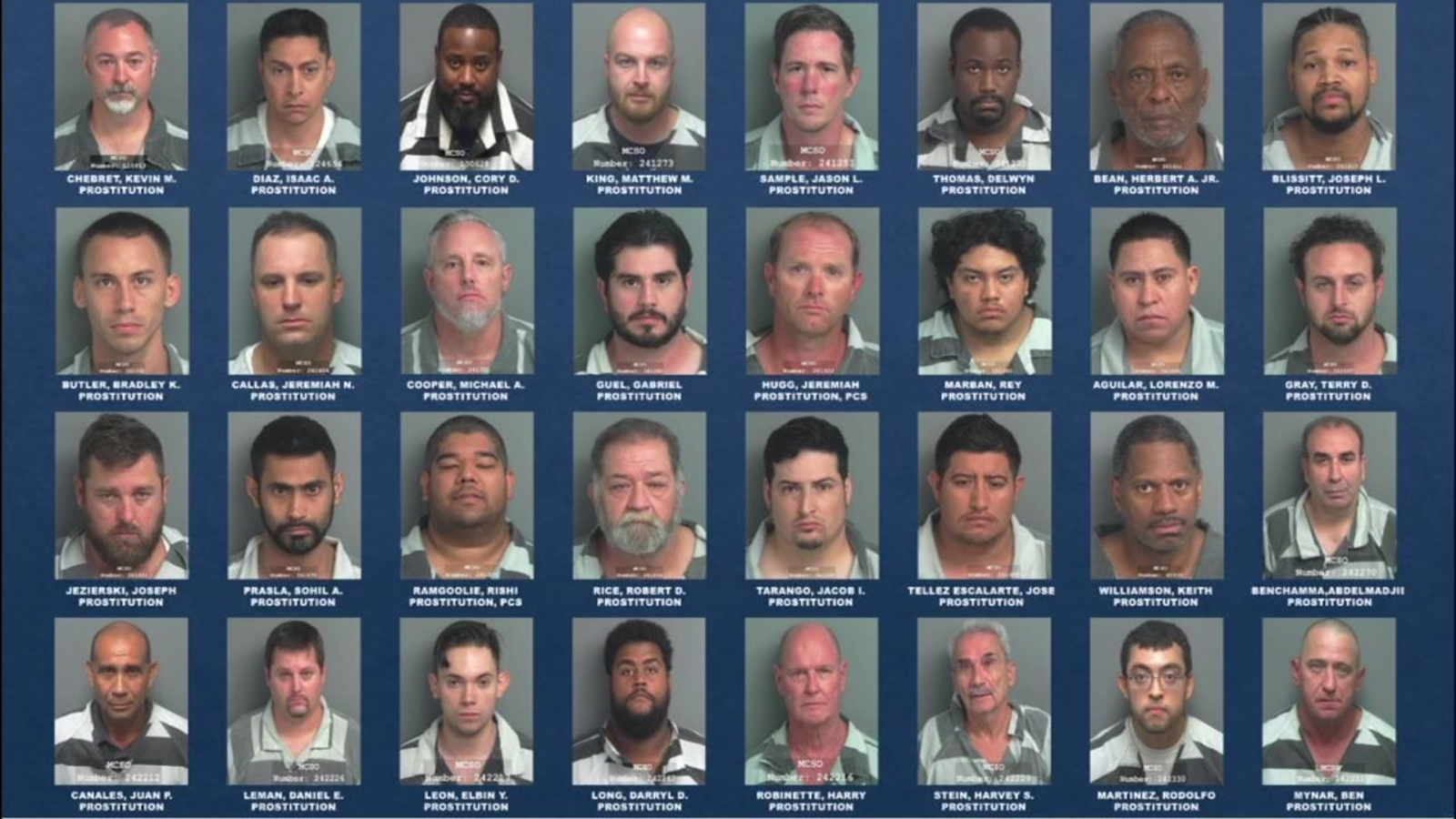 Harris County Sheriff's Office arrests 32 johns in sex trafficking  crackdown