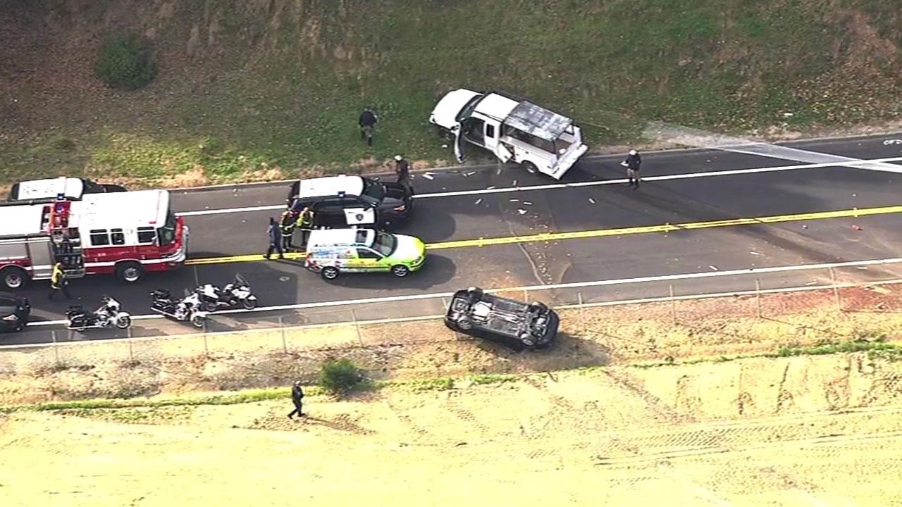 car crash outside Caldecott Tunnel