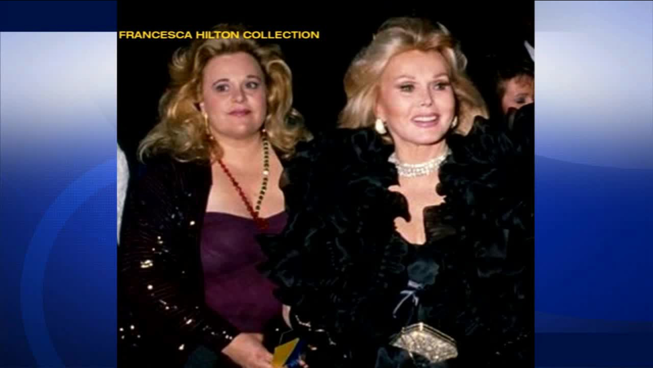 Francesca Hilton and Zsa Zsa Gabor are seen in this undated photo.