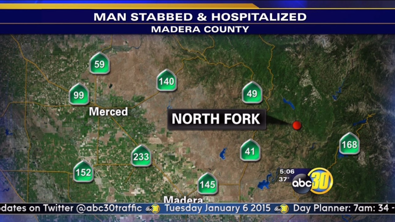 North Fork stabbing sends man to hospital