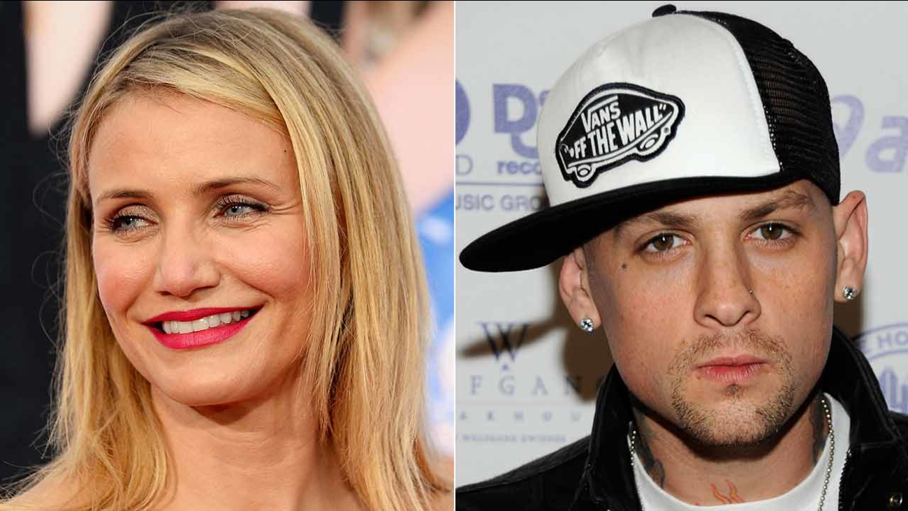 (Left) Cameron Diaz arrives at the L.A. premiere of 'The Other Woman' April 21, 2014. (Right) Musician Benji Madden poses at the Island Def Jam Grammy party Feb. 8, 2009.
