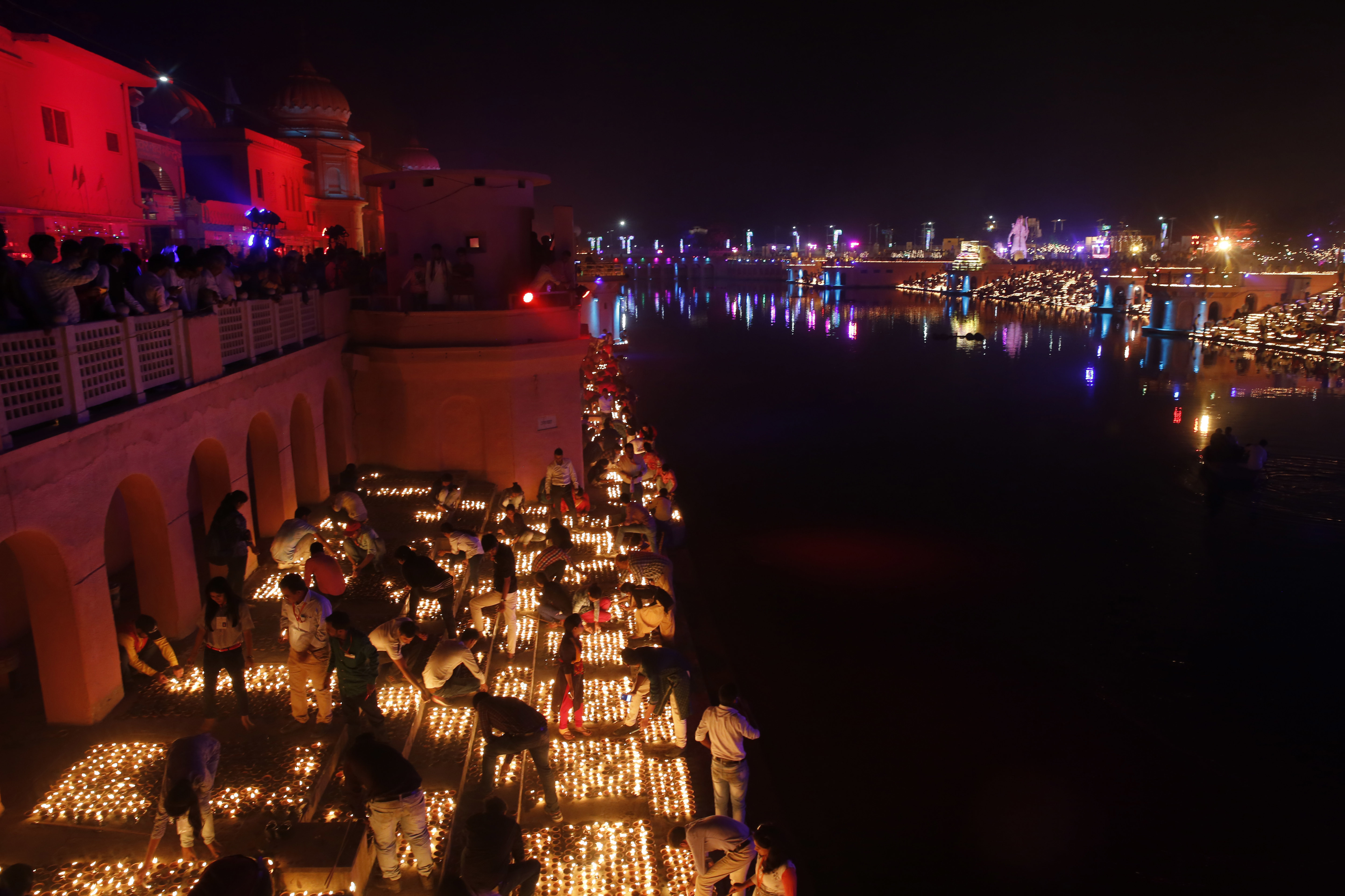 <div class='meta'><div class='origin-logo' data-origin='none'></div><span class='caption-text' data-credit=''>Indian city of Ayodhya went all out celebrating the Hindu Festival of Lights.</span></div>