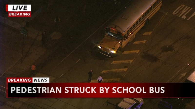 Pedestrian struck by school bus in Port Richmond