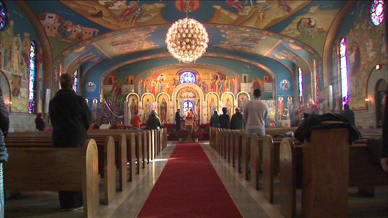Eastern Orthodox Christmas.Eastern Orthodox Christians Hold Christmas Services