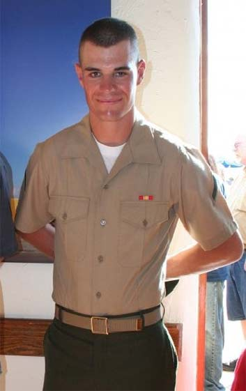 Undated photo of Ian David Long, the suspect the mass shooting at a bar in Thousand Oaks, California, during his time in the U.S. Marine Corps is seen on the Facebook page of his mother, Colleen Long.