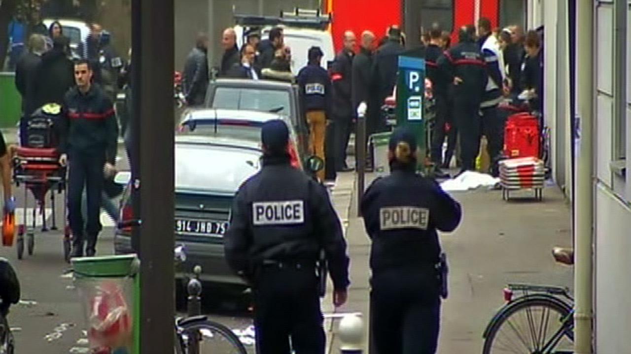 Shooting scene in Paris