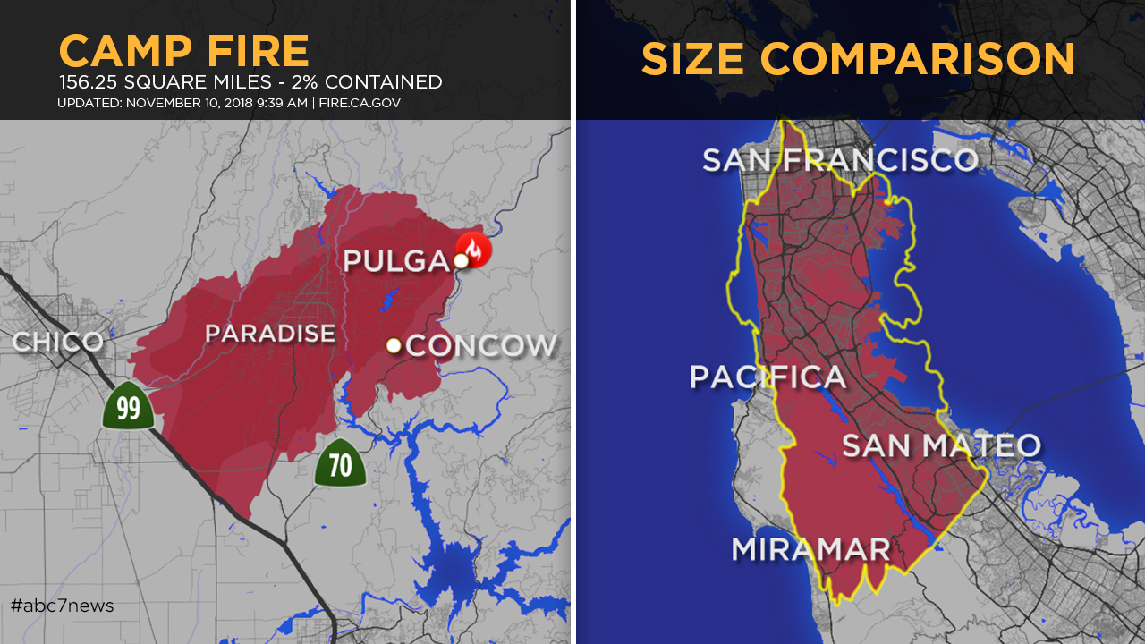 Top Maps A Look At The Camp Fire In Butte County And Other