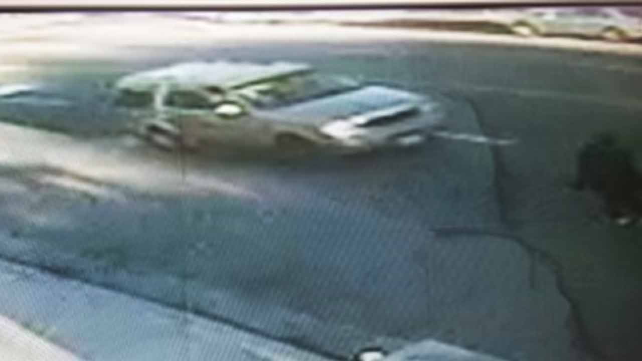 This image shows the car possibly involved in a hit-and-run crash that injured a grandmother and her grandson on Beverly Boulevard near Robertson Street on Wednesday, Jan. 7, 2015.