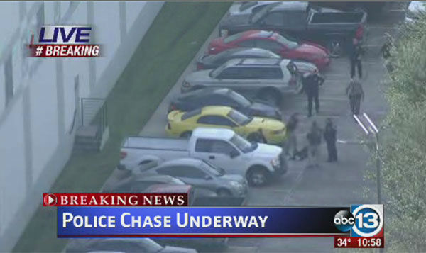 "<div class=""meta image-caption""><div class=""origin-logo origin-image ""><span></span></div><span class=""caption-text"">Photos from a police pursuit on Thursday, January 8.  Two suspects jumped from the Beltway to get away from police. (Photo/ABC-13)</span></div>"
