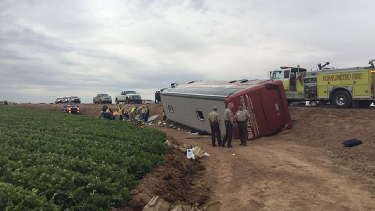 Yuma tour bus crash