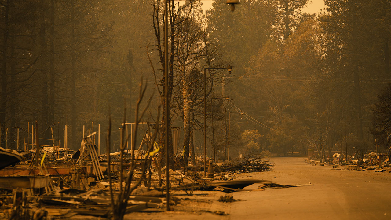 <div class='meta'><div class='origin-logo' data-origin='none'></div><span class='caption-text' data-credit='Mason Trinca for The Washington Post via Getty Images'>A neighborhood of Pentz Road is decimated by the Camp Fire in Paradise, California on November 11, 2018.</span></div>