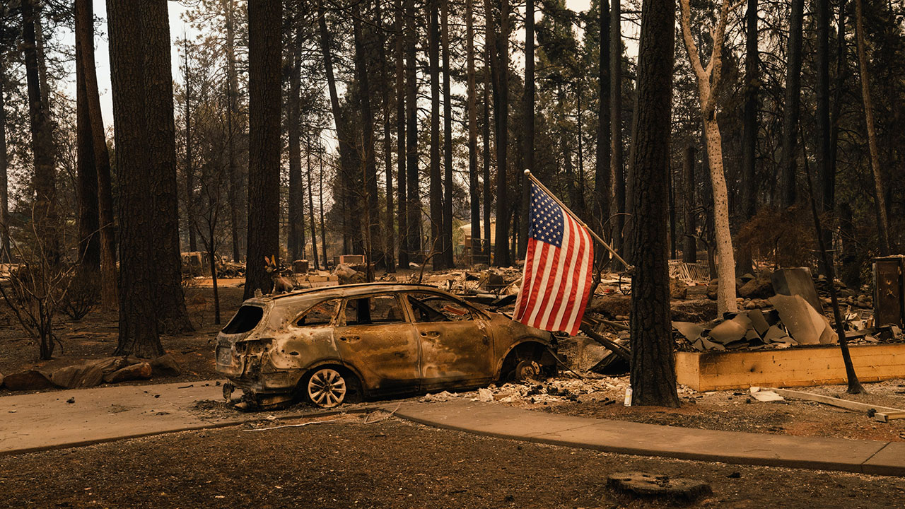 <div class='meta'><div class='origin-logo' data-origin='none'></div><span class='caption-text' data-credit='Mason Trinca for The Washington Post via Getty Images'>A home destroyed by Camp Fire in Paradise, California on November 11, 2018.</span></div>