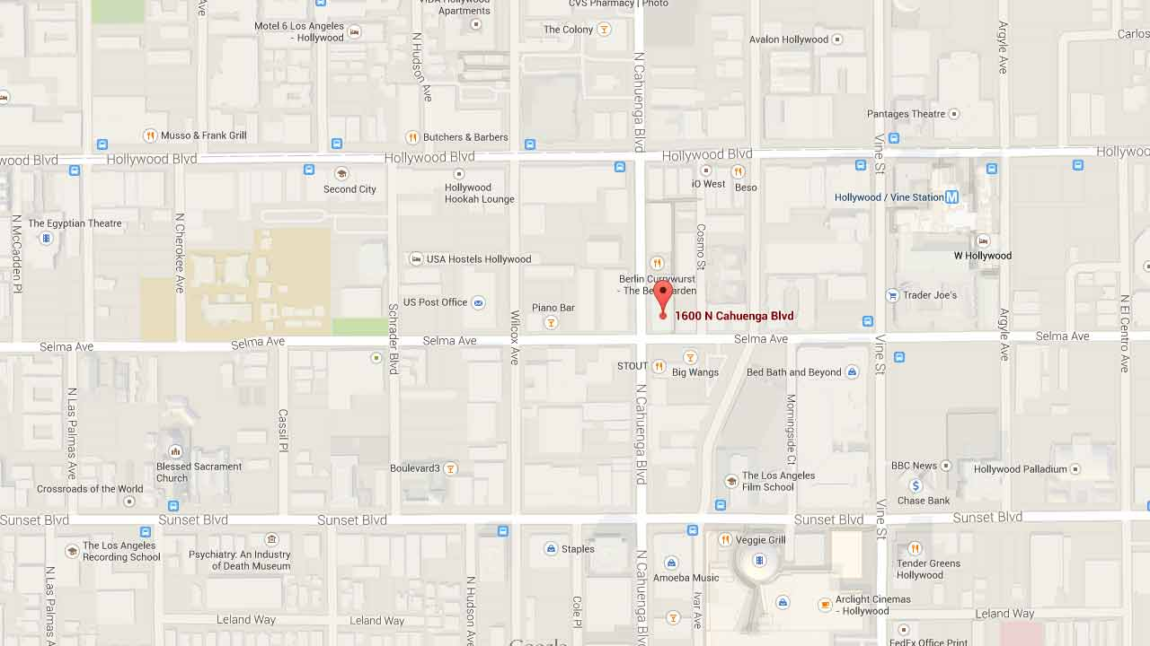 This Google Maps image shows the location of a fatal shooting in Hollywood on Sunday, Jan. 4, 2015.
