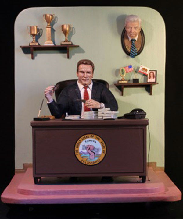 """<div class=""""meta image-caption""""><div class=""""origin-logo origin-image """"><span></span></div><span class=""""caption-text"""">A sculpture depicts Arnold Schwarzenegger, the 38th governor of California. (Laura Harling)</span></div>"""
